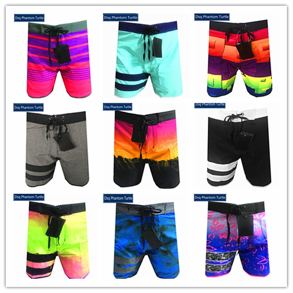 2020 Adults Stretch Swimsuit Top Brand Dsq Phantom Turtle Beach Board Shorts Men Spandex Elastic Skateboard Swimwear Quick Dry