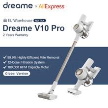 Dreame v10 pro aspirador de pó sem fio 22kpa vácuo grau ciclone filtro portátil sem fio tapete coletor poeira varrer chão