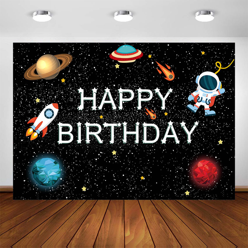 Outer Space Birthday Background