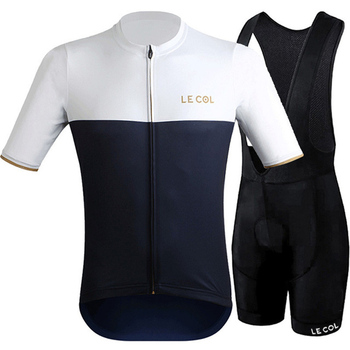 le col Cycling Jersey Set Bike Suit Men Short sleeve Clothing Summer Outdoor Cycling kit Quick Dry Maillot MTB Ropa Ciclismo new ant quick dry cycling jersey summer short sleeve mtb bike clothing ropa maillot ciclismo racing bicycle clothes 5101