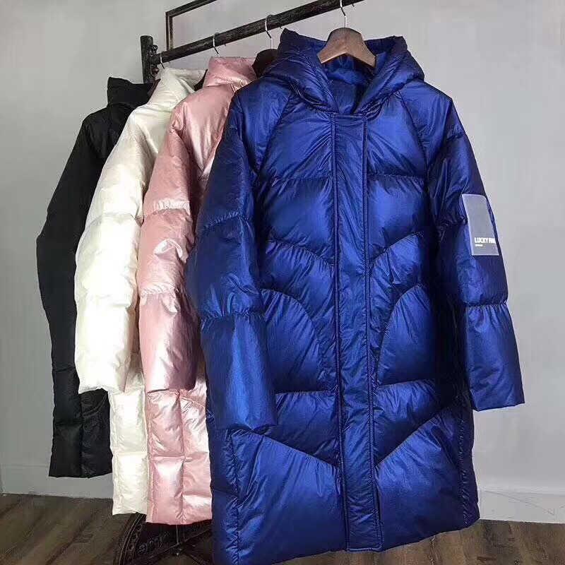 2019 冬女性 2019 服太いロング特大コート女性フード付き韓国女性プラスサイズフグジャケット