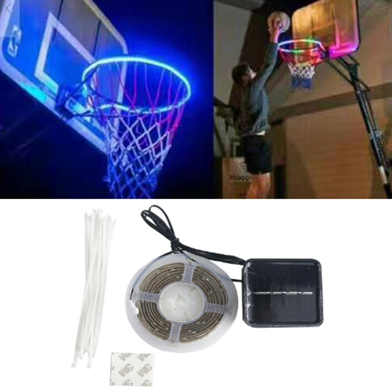 Hoop Light LED Lit Basketball Rim Night Shooting Accessories Supplies For Kids Game Children Outdoor Toys