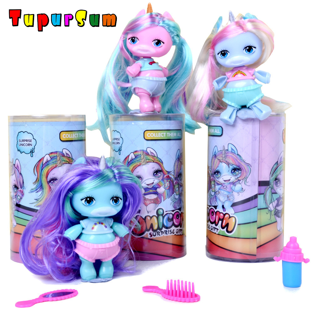 Toy Doll Lols Action-Figure Puzzle Unicorn Surprise Funny DIY Princess Original Multi-Models