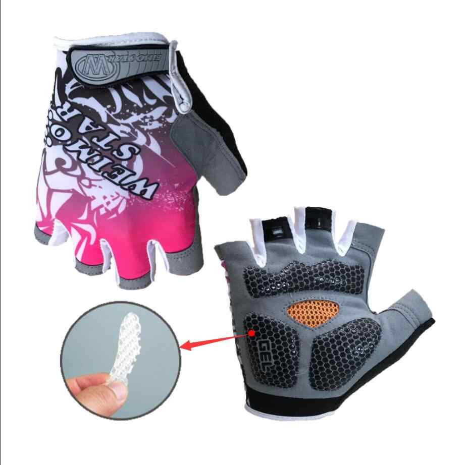 Etixxl Anti-UV łamanie wiatr rękawice rowerowe rozmiar S-2XL rękawice rowerowe zmywalne elastan MTB pół jazda palcami na rowerze rękawice