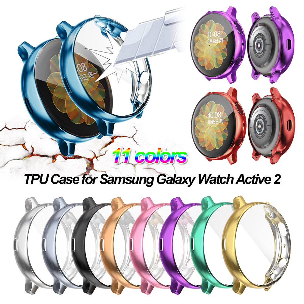 Electroplate TPU Protective Case For Samsung Galaxy Watch Active 2 40mm 44mm Protection Covers High Quality Dustproof Protectors