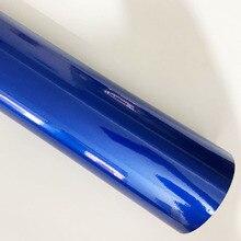 Pegatina brillante para coche, película de vinilo de caramelo azul perla, brillo metálico