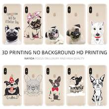 Fashion Lembut TPU Case Cover For Coque Xiaomi Redmi 4X 4A 6A 7a Y3 K20 5 Plus Note 8 7 6 5 Pro Terrier Anjing Pug Pola(China)