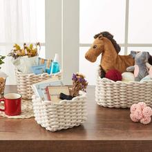 Household Woven Storage Baskets Thick Cotton Rope woven Storage Baskets Laundry Baskets