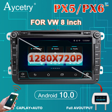PX6 Auto Radio 2din Android 10 multimedia dvd player autoradio GPS für Volkswagen/VW/polo/golf/passat/B7/B6/skoda/seat/leon Audio