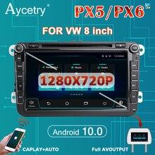 PX6 autoradio 2din Android 10 multimedia lettore dvd GPS autoradio per Volkswagen/VW/polo/golf/passat/B7/B6/skoda/seat/leon Audio