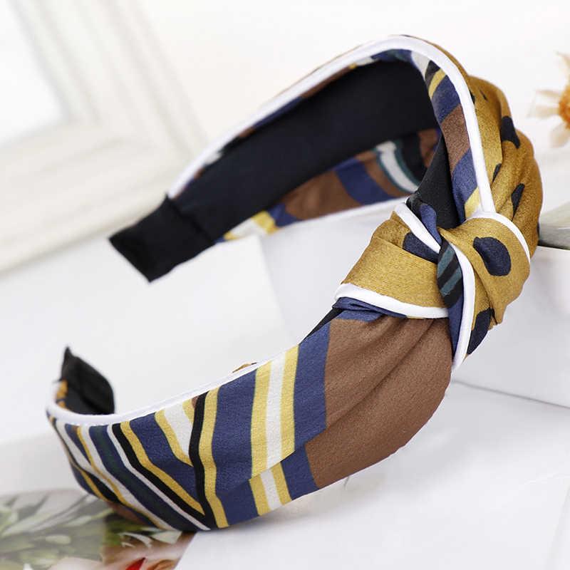 Noeud bandeau Turban Vintage élastique haut femme pas de glissement rester sur noué bandeau bandeau cheveux accessoires femmes dame bandans