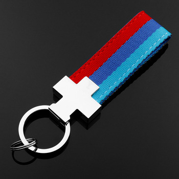 Car styling riband Key Chain/ Metal Car Keychain gift For BMW blue M Tech M Sport M3 M5 E46 E39 E60 F30 E90 F10 F30 E36 X1 X3 image