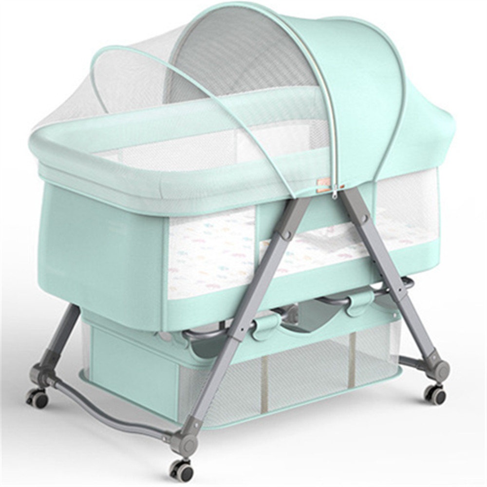 Baby Cribs Portable Folding Crib Connected With Parents' Normal Big Bed Travel Folding Baby Bed Infant Toddler Cradle