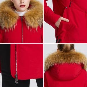 Image 5 - MIEGOFCE 2019 yeni kış koleksiyonu ceket kadın kış Parka ile kürk Hood yama cep kadın ceket farklı sıradışı renk