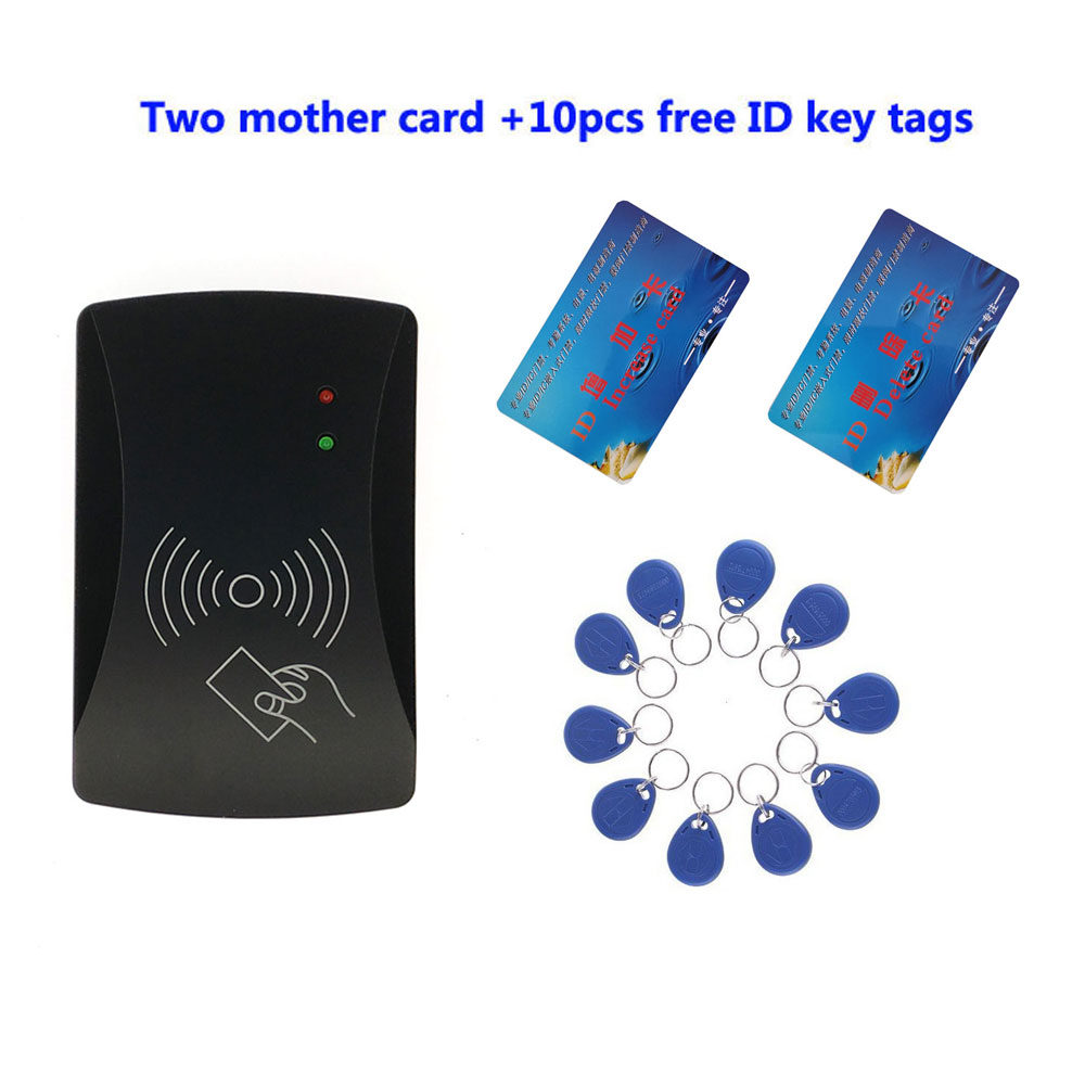RFID ID standalone Door Access Control  9-12V power can control lift control system two mother card with 10 em key fob