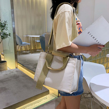 2020 New Women Bag Hit Color Canvas Bag Student Casual Shoulder Messenger Bag Fashion Tote Bag Crossbody Bags for Women trendy color block and canvas design women s tote bag