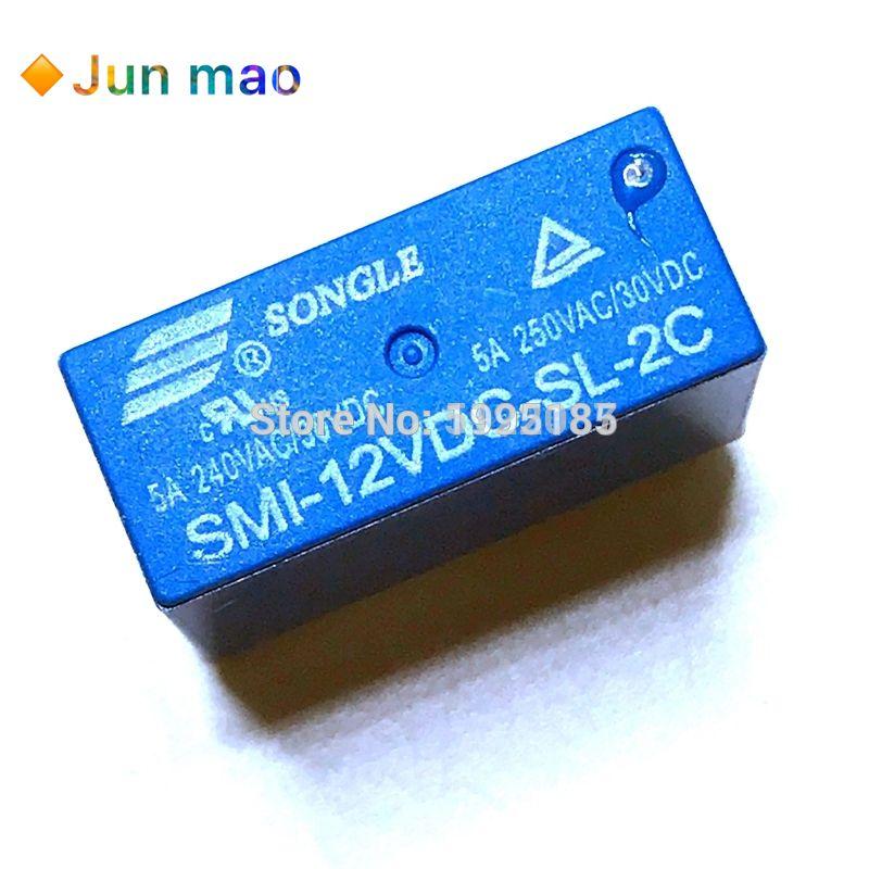 2PCS SMI-12VDC-SL-2C 12VDC ORIGINAL SONGLE Relay 8PIN