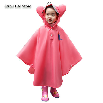 Yellow Raincoat Kids Child Poncho Girls Boys Waterproof Pink Rain Coat Suit Hiking Rain Jacket Kids Capa De Chuva Gift Ideas 2