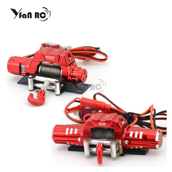 KYX Aluminum Alloy Electric Self-rescue Winch Single/Double Motor Capstan Windlass Hook for RC 1/10 Climbing Car 1:10 TRX-4 KM2