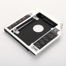 12.7 milímetros Adaptador Da Estrutura 2nd HDD SSD Hard Drive Óptico bay Caddy para Dell Inspiron 15R 5520 15R 7520 3520 n5040 M5040 SN-208BB