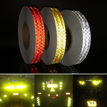 width 25mm PET Reflective Bicycle Stickers Adhesive Tape for Bike Safety White Red Yellow Bike Stickers Bicycle Accessories 5cm width reflective bicycle stickers adhesive tape for bike safety white red yellow blue bike stickers bicycle accessories