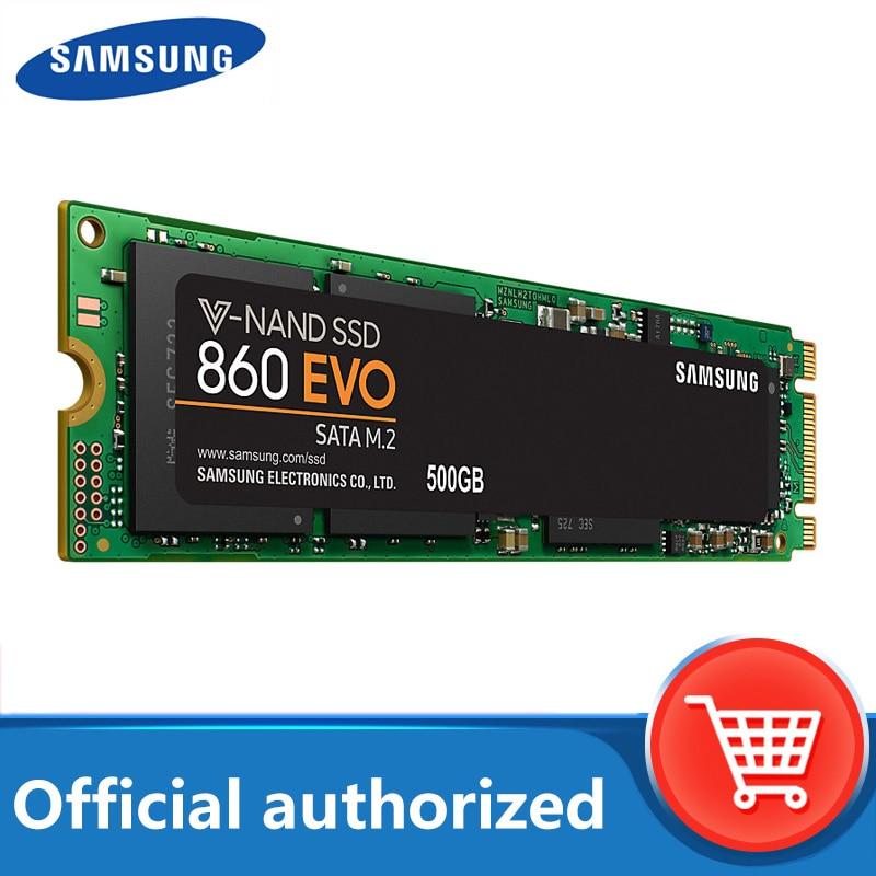 SAMSUNG SSD 860 EVO M 2 2280 SATA 1TB 500GB 250GB Internal Solid State Disk Hard Drive HDD M2 Laptop Desktop PC TLC PCLe M 2