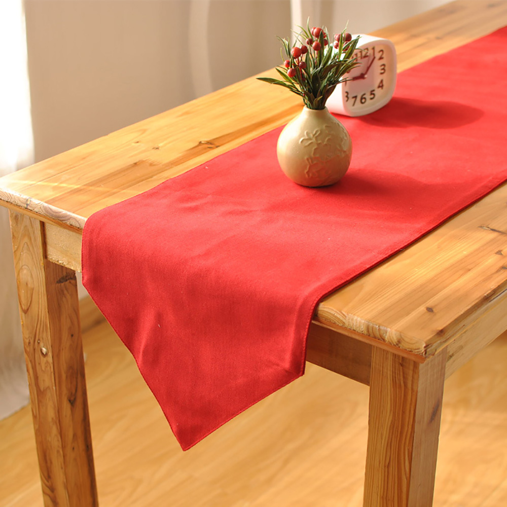 Lychee Christmas Red Table Runner Simple Table Runner For Home Wedding Birthday Party Outdoor