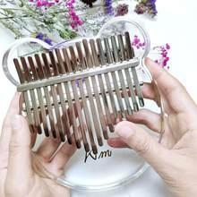 Kimi Kalimba akrylowe 17 klucz przezroczysty kciuk fortepian Mbira Sanza z tunerem młotek Gig Kalimba Instrument muzyczny prezent na boże narodzenie