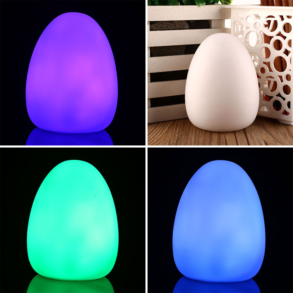 LED Night Lamp 7 Colors Changing Mood Cute Egg Shaped Home Decor Lamp For Children Baby Kid Night Light New Year Xmas Gifts
