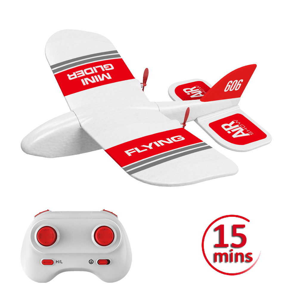 RC Plane KF606 2.4Ghz EPP Flying Aircraft Mini Glider Airplane Foam 15 Minutes Fligt Time RTF Foam Plane Toys Kids Gifts