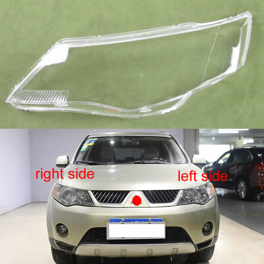 For Mitsubishi Outlander EX 2007 2008 2009 Headlight Transparent Lampshade Lamp Lampshade Transparent Lamp Shade Cover Lens