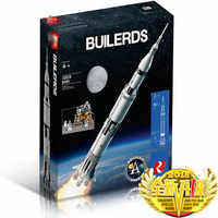 IN LAGER 37003 lepinbricks Apollo Saturn V Modell kompatibel mit 21309 80013 Bausteine Ziegel Pädagogisches Spielzeug geschenke