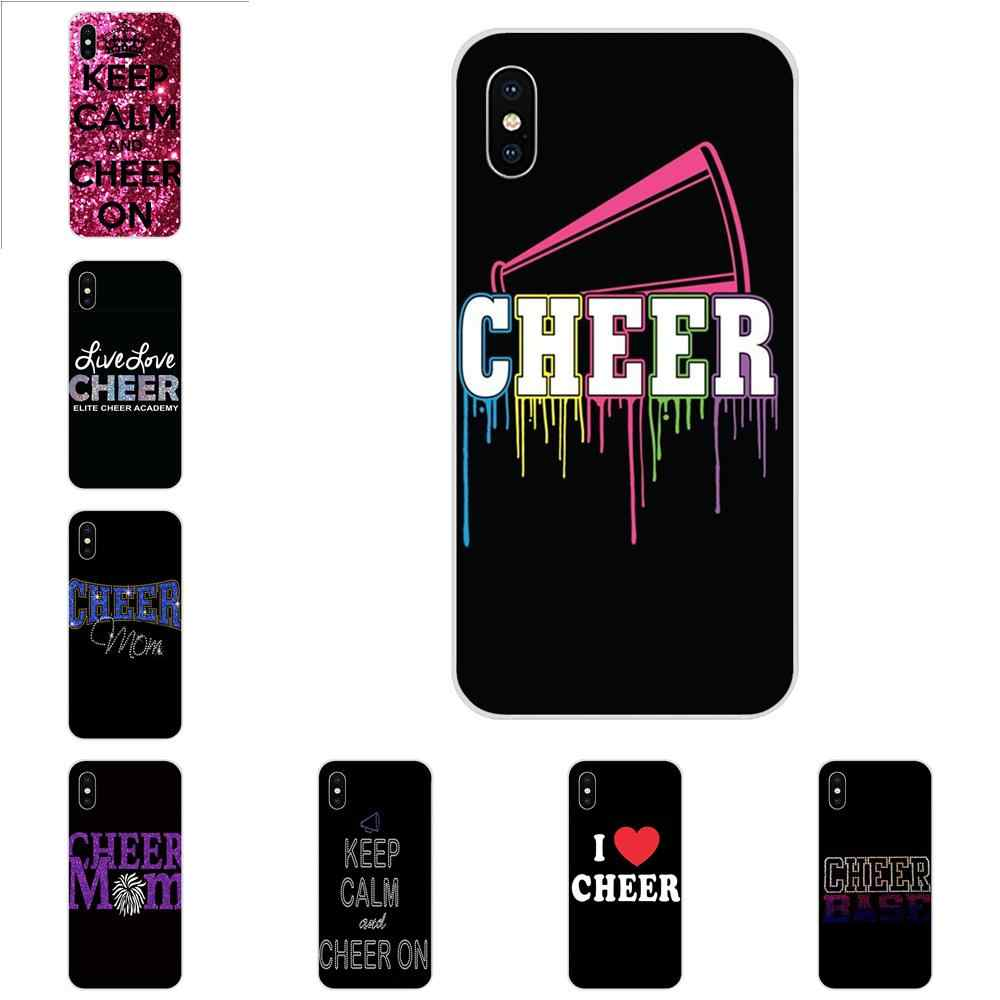 TPU Best Cases For Apple iPhone 4 4S 5 5C 5S SE 6 6S 7 8 Plus X XS Max XR Cheers Cheerleader Bow To Toe
