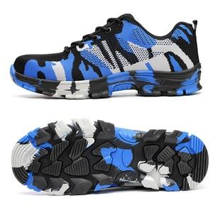 Image 2 - MWSC ผู้ชายทำงานรองเท้าเพื่อความปลอดภัยรองเท้าทำงานสำหรับผู้ชายความปลอดภัยรองเท้า Camouflage ทำลายรองเท้า Unisex STEEL TOE รองเท้ารองเท้าผ้าใบ