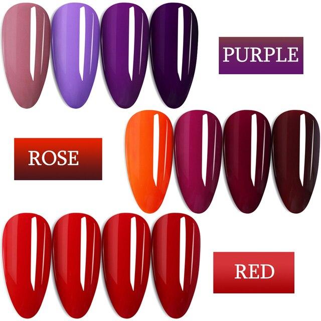 7ml Colorful Gel Varnish UV Vernis Semi Permanent Soak Off Nail Painting Polish Lacquer DIY Nail Art Design Manicure Tool BE1571 2