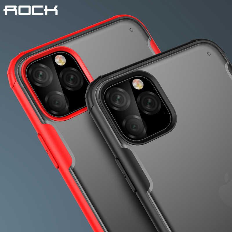 Funda de teléfono a prueba de golpes Rock para iPhone 11 Pro Max Funda en Funda para iPhone XR XS X 7 8 Plus Funda transparente mate Coque