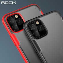 Funda a prueba de golpes Rock para iPhone 11 Pro funda protectora máxima para iPhone XR XS X 7 8 Plus funda transparente ultrafina mate(China)