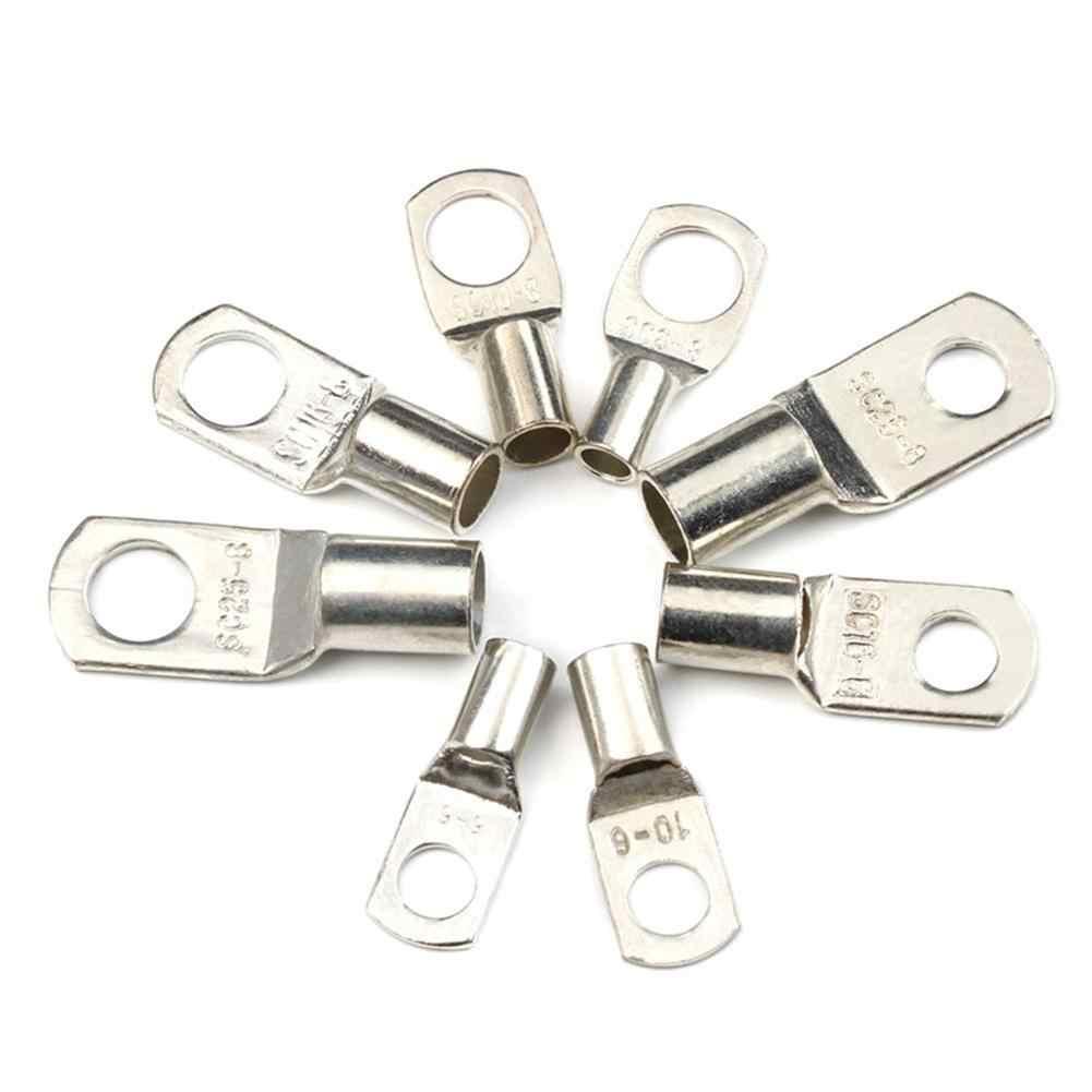 60PCS SC6 8//10//16//25 Conector de terminal de anillo de alambre de cobre SC Terminales de cobre esta/ñado estables Se pueden engarzar o soldar