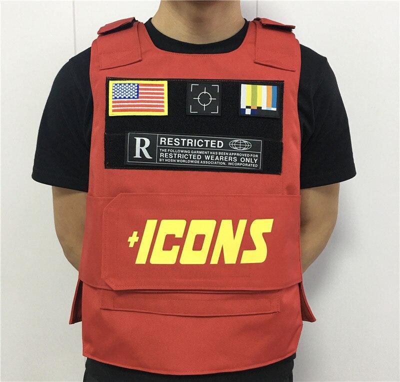 Red Rapper Hiphop MC VEST RAPPER BAR TANK TOP Fashion New Design Street Fashion ICONS Military Militari Tactic Tactical Vest