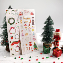 1Pcs Christmas Decorative Tree Stickers Adhesive Cute Garland Elk Stickers Party Decor Scrapbooking Diary Albums Pocket Stickers