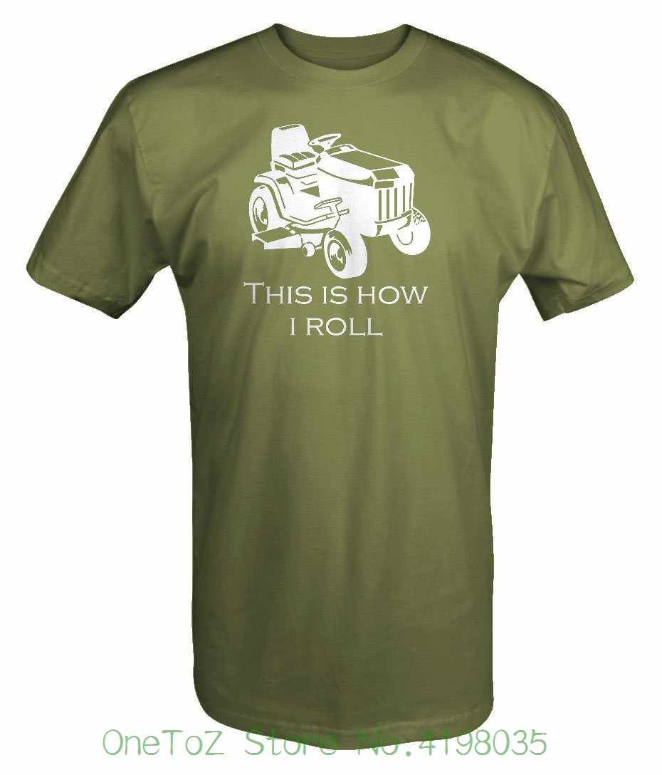 Это то, как я катаюсь на газонокосилке, газонокосилка, Ландшафтная футболка, забавные хлопковые футболки с короткими рукавами