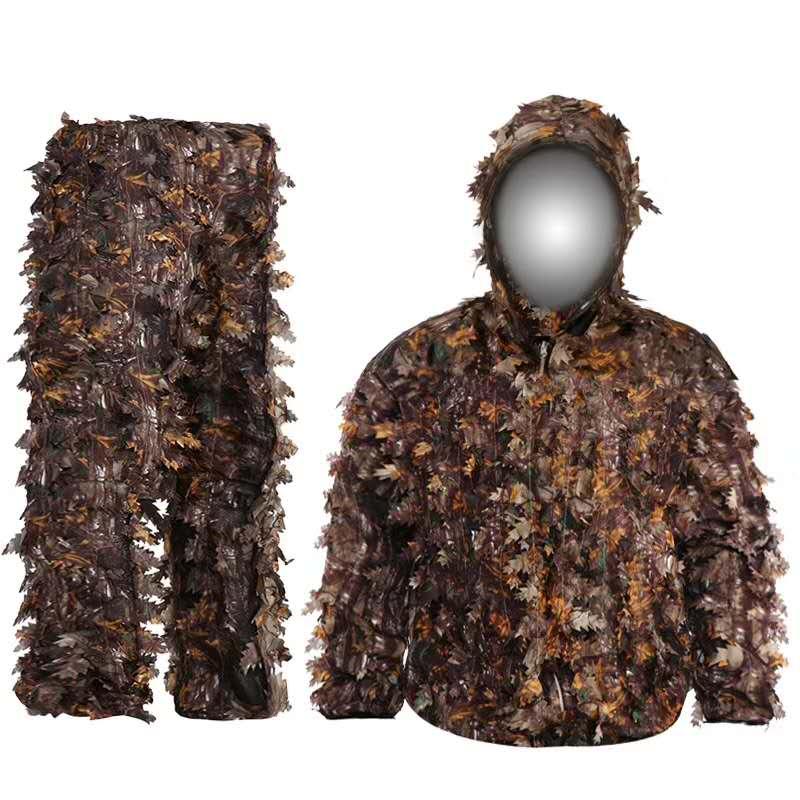 Камуфляжный костюм для охоты, липкий цветок, бионические листья, зеленые листья, маскировочный костюм для лесных массивов, универсальный Камуфляжный снайперский армейский костюм|Маскировочный костюм для охоты|   | АлиЭкспресс