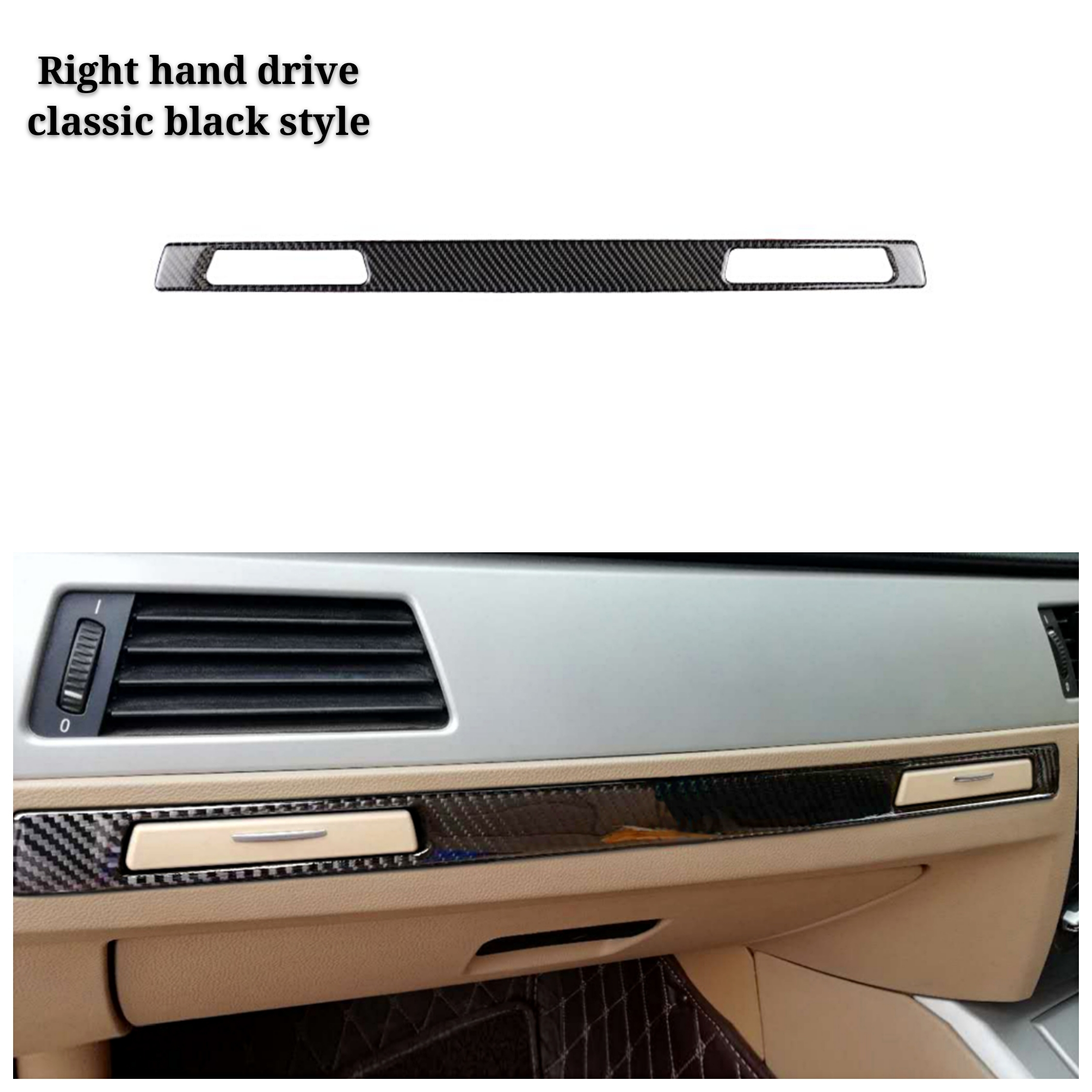Car <font><b>Interior</b></font> Accessories <font><b>Carbon</b></font> <font><b>Fiber</b></font> Decal Sticker Copilot Water Cup Holder Panel Cover For <font><b>BMW</b></font> <font><b>E90</b></font> E92 E93 3 Series LHD RHD image