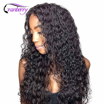 Cranberry 13X4 Lace Front Human Hair Wigs Brazilian Hair Water Wave Lace Front Wig Remy Human Hair Lace Front Wigs Black Women - DISCOUNT ITEM  53% OFF All Category
