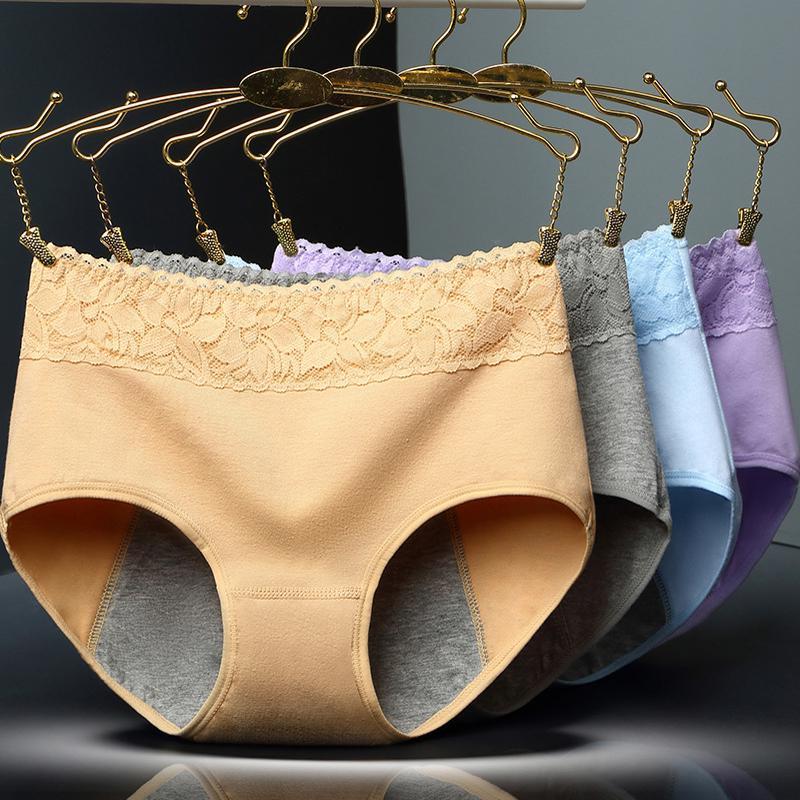 Feminino Calcinha Período Menstrual Calças Fisiológicas À Prova de Fugas Das Mulheres Roupa Interior de Algodão Cuecas Sem Costura na cintura de Saúde Quente