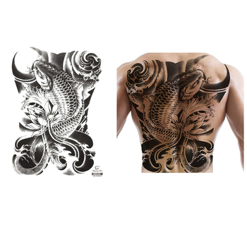 Waterproof Big Large Full Back Tattoo Stickers Chest Arm Fake Tattoo Various Patterns Temporary Tattoos Sticker for Man Body Art new 1 piece temporary tattoo sticker mechanical design full flower tattoo with arm body art big large fake tattoo sticker