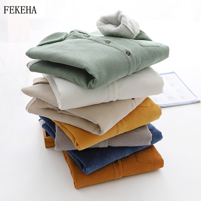 Thick-Velvet-Corduroy-Shirts-Women-Winter-Keep-Warm-Blouses-And-Tops-Casual-Solid-Loose-Female-Clothes