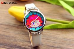 Новые модные детские часы с ремешком и бриллиантами для девочек