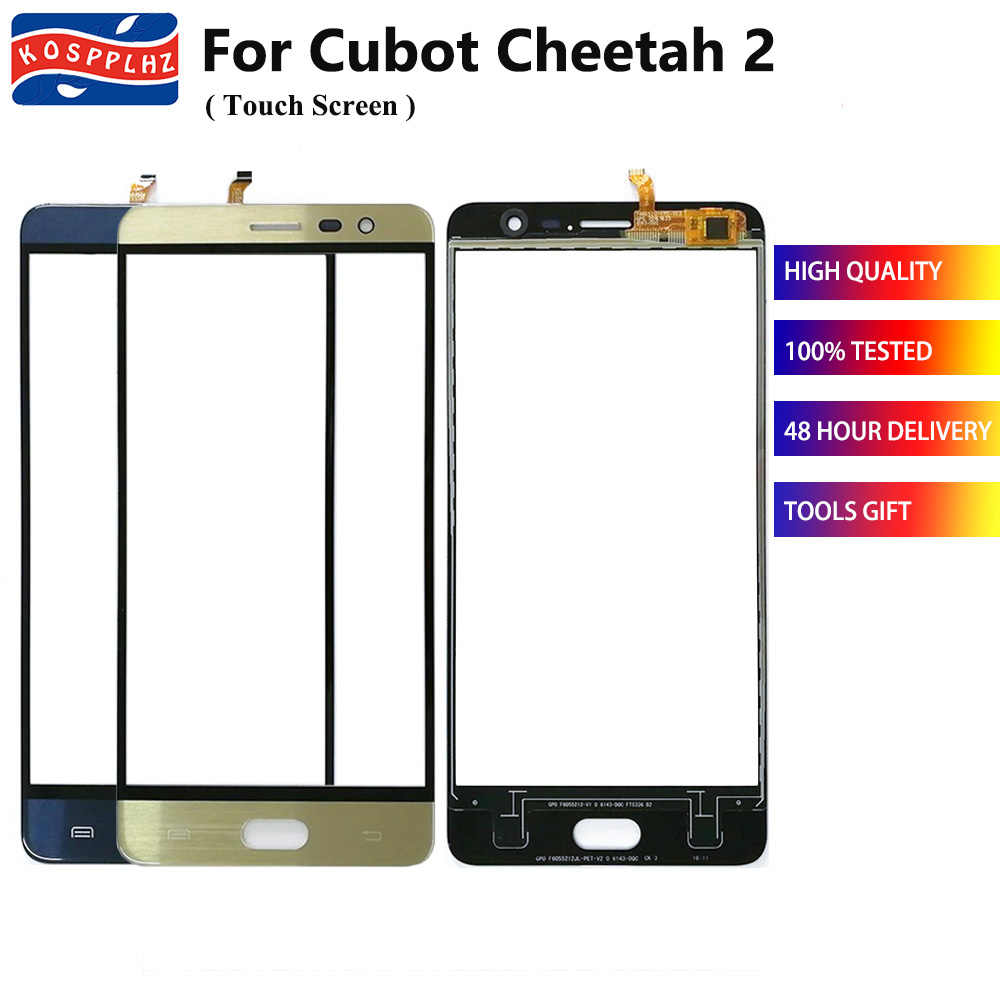 Blau/Gold Farbe Für Cubot Cheetah 2 Touch Screen Glas Panel Touch Screen Digitizer Sensor objektiv Cubot Cheetah2 Handy