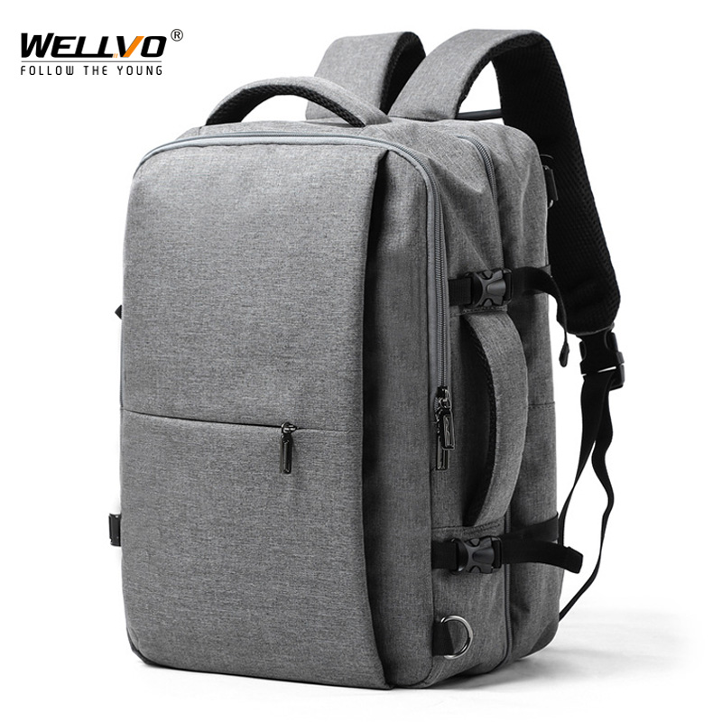 Splashproof 15.6 Inch Laptop Backpack Anti Theft Men Oxford Backpack Travel Female Hand School Bag Mens Bagpack Mochila XA302ZC